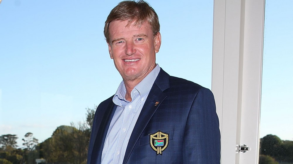 Els unveils new shield for International Presidents Cup team