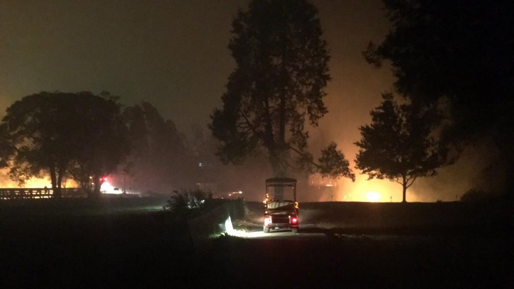 Fires cause Silverado evacuation hours after Safeway