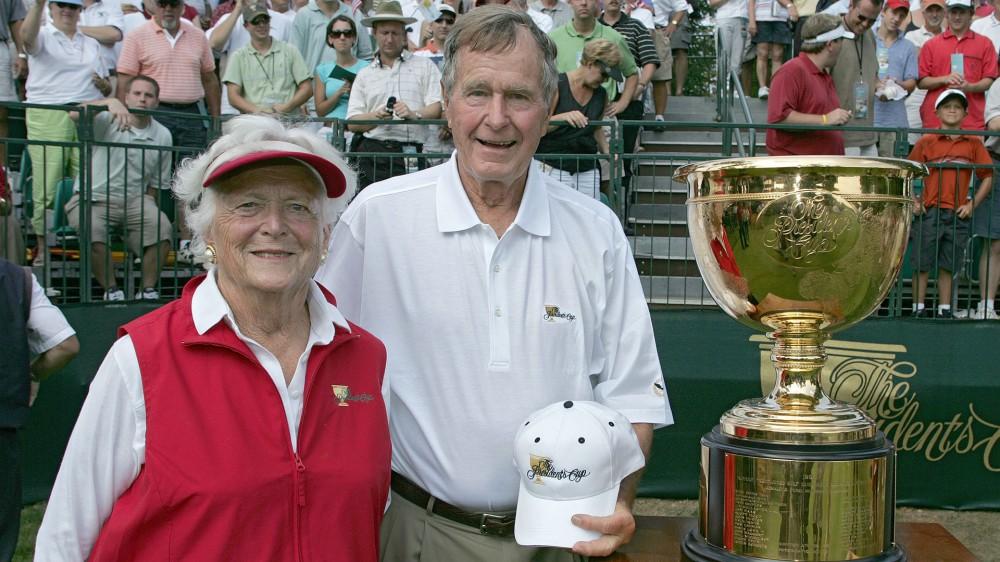 Golf greats mourn passing of Barbara Bush