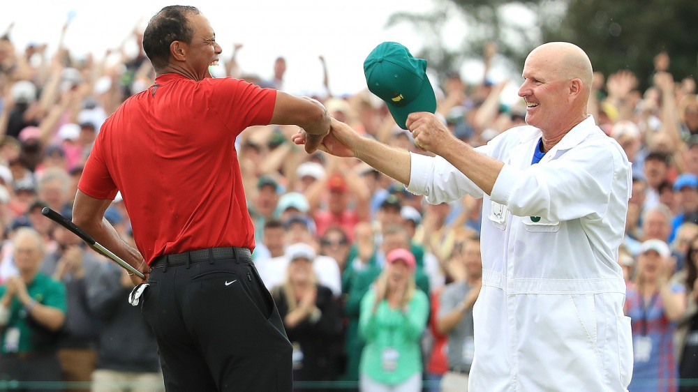 LaCava details Tiger's post-Masters text and says Bethpage will be 'off the hook'