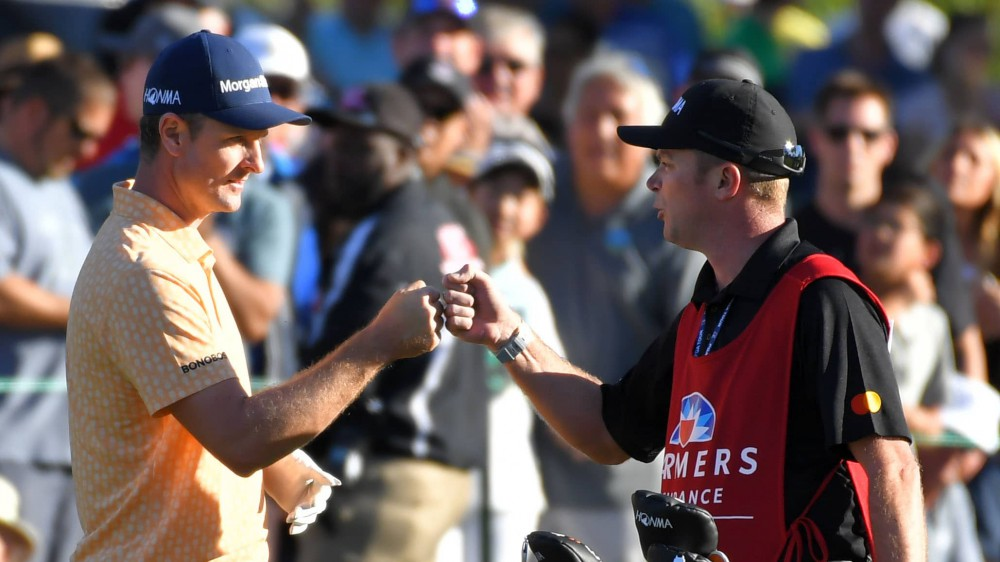 Lord garners praise as Rose's fill-in caddie at Farmers