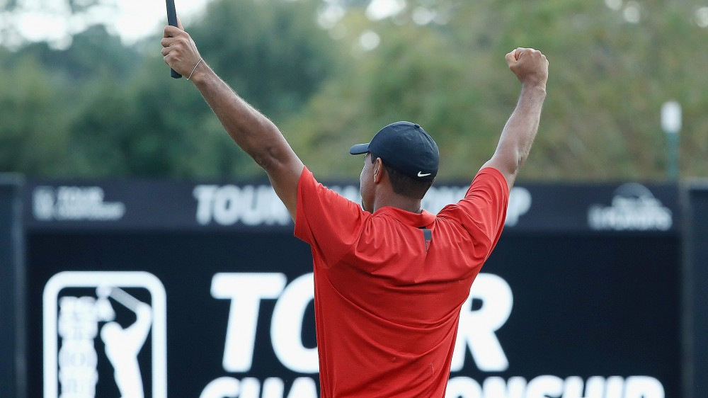 Social media explodes over Tiger's 80th win