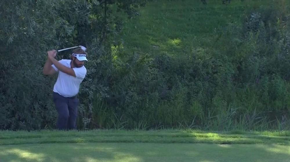 Watch: Dubuisson duffs shot, throws away club