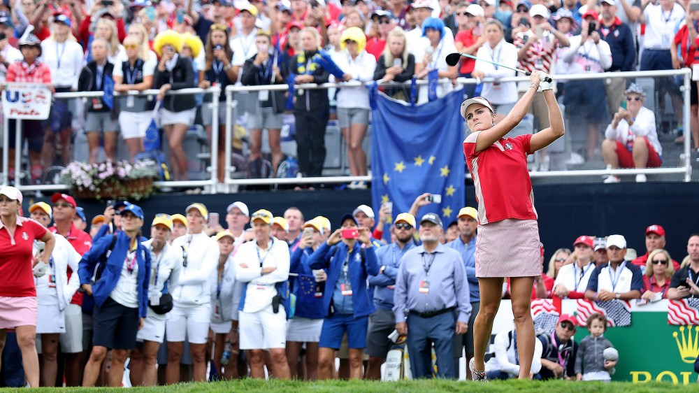 Watch: Lexi drives first hole of Solheim Cup