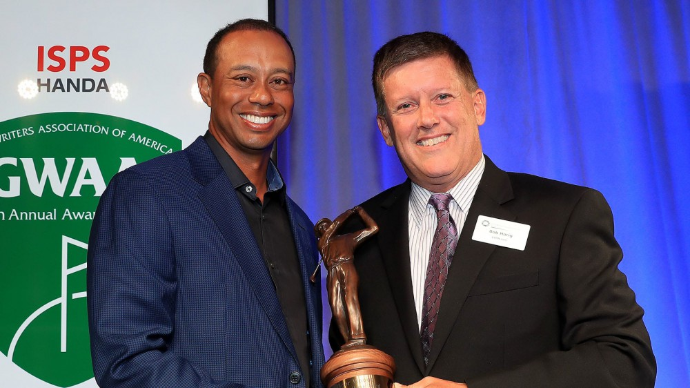 Woods, once uncertain about future, accepts GWAA award